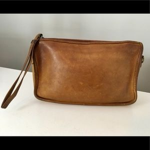 Vintage Coach NYC  Leather Clutch Wristlet